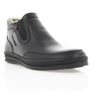 Купить Ботинки мужские черные, кожа (1813 чн. Шк (шерсть))  Roma style по лучшим ценам
