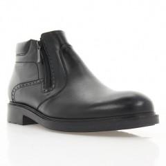 Ботинки мужские черные, кожа (1819-18 чн. Шк (шерсть)) Roma style