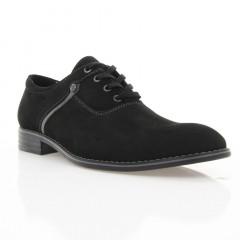 Туфли мужские черные, нубук (1824 чн. Нб) Roma style