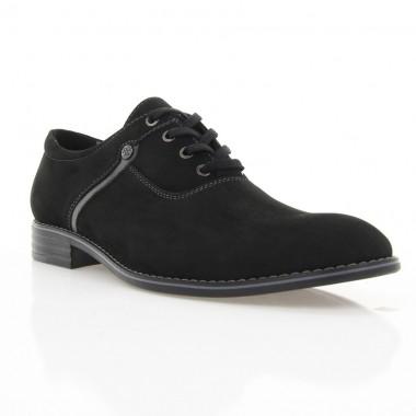 Купити Туфлі чоловічі чорні, нубук (1824 чн. Нб) Roma style за найкращими цінами