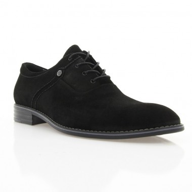 Купити Туфлі чоловічі чорні, замш (1824 чн. Зш) Roma style за найкращими цінами