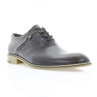 Туфли мужские коричневые, кожа (1824 кор. Шк_бж н) Roma style