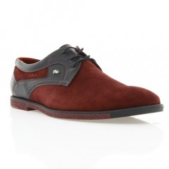 Туфли мужские бордовые, замш (1827 борд. Зш) Roma style