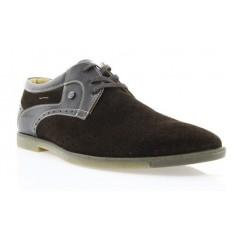 Туфли мужские коричневые, замш (1827D кор. Зш) Roma style