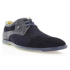 Туфли мужские синие, замша (1827D сн. Зш) Roma style