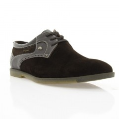 Туфли мужские коричневые, замш (1827 кор. Зш) Roma style