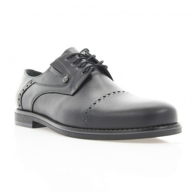 Купить Туфли мужские черные, кожа (1828/1 чн. Шк) Roma style по лучшим ценам