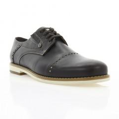 Туфли мужские коричневые, кожа (1828/1 кор. Шк_бж н) Roma style