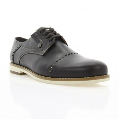 Туфлі чоловічі коричневі, шкіра (1828/1 кор. Шк_бж н) Roma style