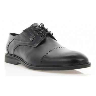 Купить Туфли мужские черные, кожа (1828 чн. Шк) Roma style по лучшим ценам