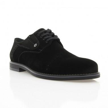 Купити Туфлі чоловічі чорні, замш (1828 чн. Зш) Roma style за найкращими цінами