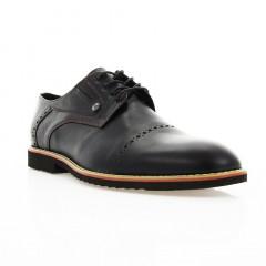 Туфли мужские черные, кожа (1828_ЕВА чн. Шк_борд н) Roma style