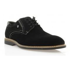Туфли мужские черные, замш (1829 чн. Зш) Roma style