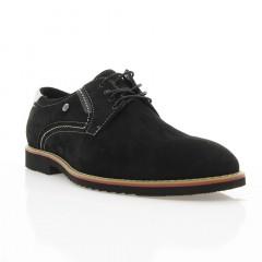 Туфли мужские черные, нубук (1829_ЕВА чн. Нб) Roma style