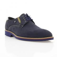 Туфли мужские синие, нубук (1829_ЕВА сн. Нб) Roma style