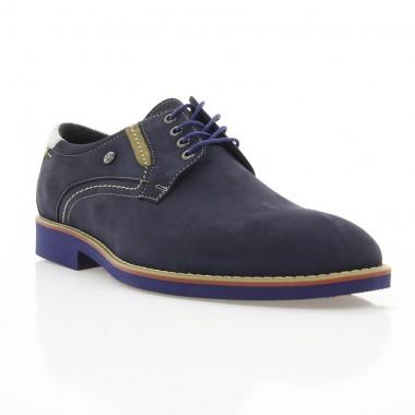Купити Туфлі чоловічі сині, нубук (1829_ЕВА сн. Нб) Roma style за найкращими цінами