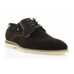 Туфлі чоловічі коричневі, замш (1829 кор. Зш) Roma style