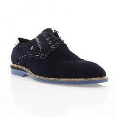 Туфли мужские синие, замш (1829 сн. Зш) Roma style
