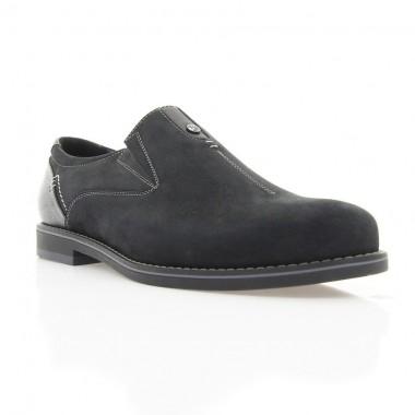 Купити Туфлі чоловічі чорні, нубук (1832 чн. Нб) Roma style за найкращими цінами