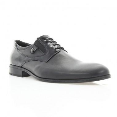 Купить Туфли мужские черные, кожа/лакированная кожа (1833 чн. Шк+Лк) Roma style по лучшим ценам