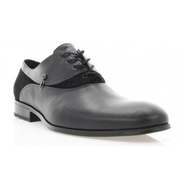 Туфлі чоловічі чорні, шкіра/велюр (1834 чн. Шк+Вл) Roma style