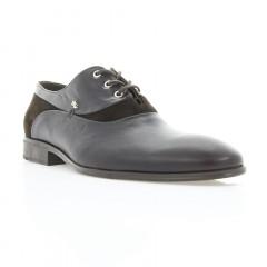 Туфли мужские коричневые, кожа/велюр (1834 кор. Шк+Вл) Roma style
