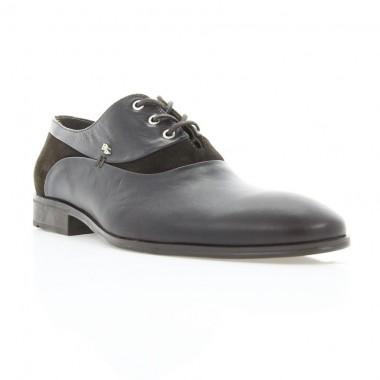 Купить Туфли мужские коричневые, кожа/велюр (1834 кор. Шк+Вл) Roma style по лучшим ценам