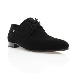 Туфли мужские черные, велюр (1835-18 чн. Вл) Roma style