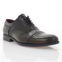 Туфли мужские бордовые, кожа (1837-19 борд. Шк) Roma style