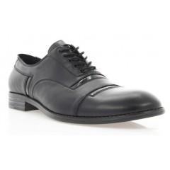 Туфли мужские черные, кожа/лакированная кожа (1837 чн. Шк+Лк) Roma style