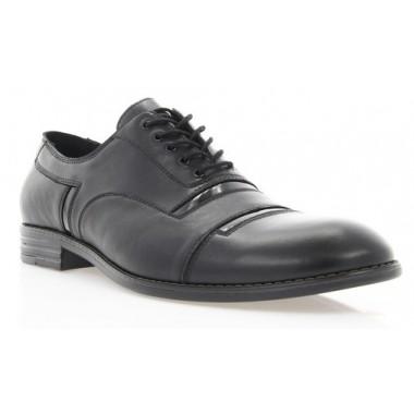 Купить Туфли мужские черные, кожа/лакированная кожа (1837 чн. Шк+Лк) Roma style по лучшим ценам