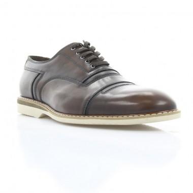 Купить Туфли мужские коричневые, кожа (1837 кор. Шк) Roma style по лучшим ценам