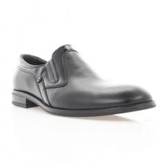 Туфли мужские черные, кожа (1842 чн. Шк+Лк) Roma style