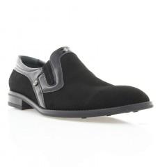Туфли мужские черные, велюр (1842 чн. Вл+Лк) Roma style