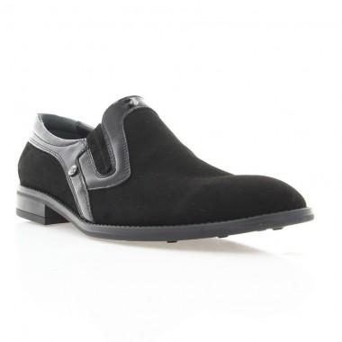 Купити Туфлі чоловічі чорні, велюр (1842 чн. Вл+Лк) Roma style за найкращими цінами