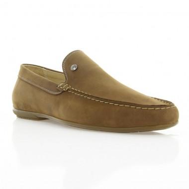 Купить Мокасины мужские коричневые, нубук (1847/1-18 кор. Нб) Roma style по лучшим ценам