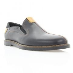 Туфли мужские черные, кожа (1852/1 чн. Шк_рж. вст) Roma style