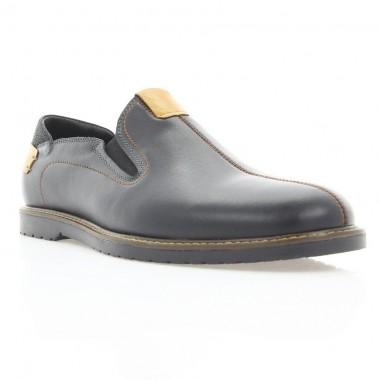Купить Туфли мужские черные, кожа (1852/1 чн. Шк_рж. вст) Roma style по лучшим ценам