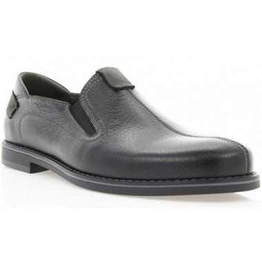 Туфли мужские черные, кожа (1852 чн. Фл) Roma style
