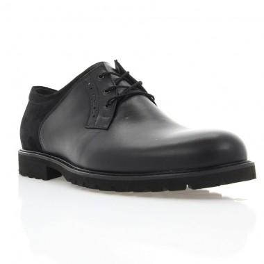 Купить Туфли мужские черные, кожа/замша (1853_ЕВА чн. Шк+Зш) Roma style по лучшим ценам