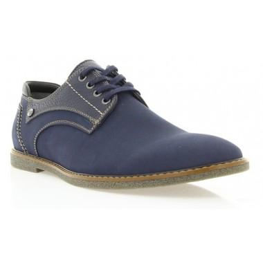 Купить Туфли мужские синие, нубук (1857 сн. Нб) Roma style по лучшим ценам