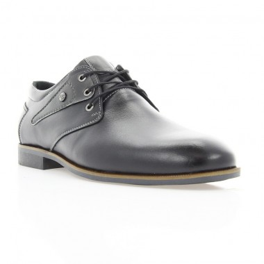 Купить Туфли мужские черные, кожа (1858-18 чн. Шк) Roma style по лучшим ценам