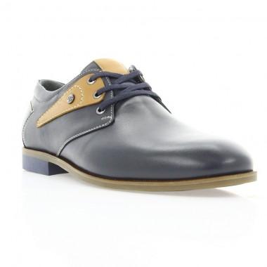 Купить Туфли мужские синие/рыжие, кожа (1858-18 сн. Шк_рж) Roma style по лучшим ценам