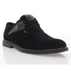 Туфли мужские черные, замша (1858-19 чн. Зш) Roma style