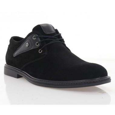 Купити Туфлі чоловічі чорні, замш (1858-19 чн. Зш) Roma style за найкращими цінами