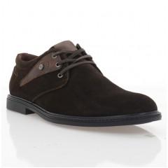 Туфли мужские коричневые, замша (1858-19 т.кор. Зш) Roma style