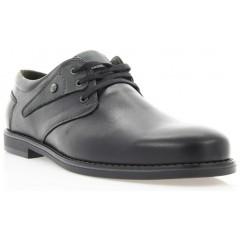 Туфли мужские черные, кожа (1858 чн. Шк_сір вст) Roma style