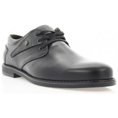 Купить Туфли мужские черные, кожа (1858 чн. Шк_сір вст) Roma style по лучшим ценам