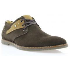 Туфли мужские коричневые, замш (1858 кор. Зш) Roma style
