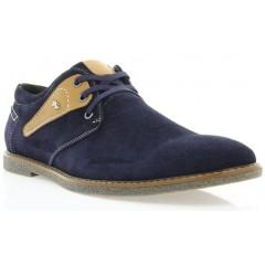 Туфли мужские синие/рыжие, замш (1858 т.сн. Зш_рж вст) Roma style